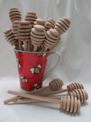 Wooden Honey Dippers - Large