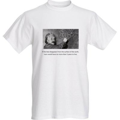 T-shirt - Einstein on Bees - Adult Small / white