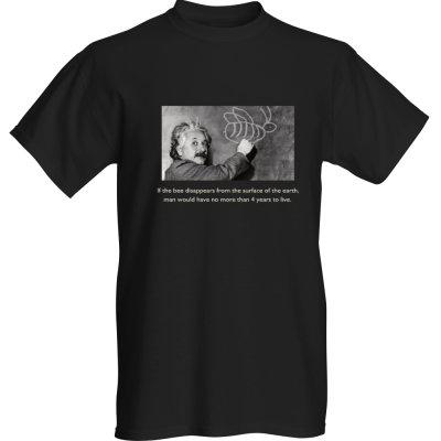 T-shirt - Einstein on Bees - Adult Medium / black