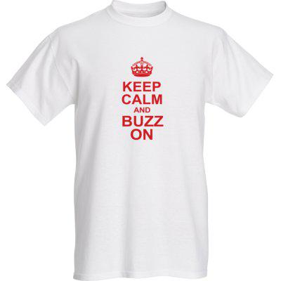 T-shirt - Keep Calm and Buzz On - Adult Small